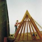 Holzgerüst Kapelle