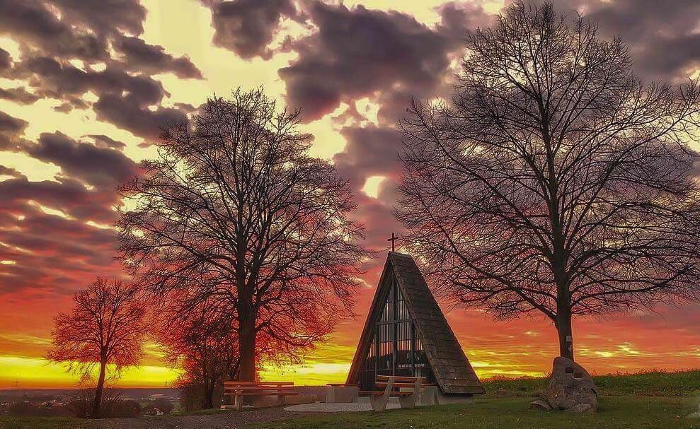 Kapelle Sonnenuntergang